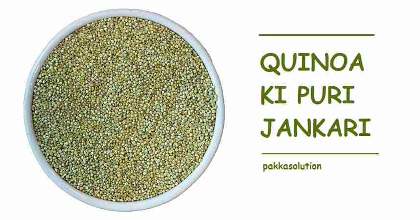 Quinoa In Hindi 5 गजब फायदे और Quinoa Recipes की पूरी जानकारी